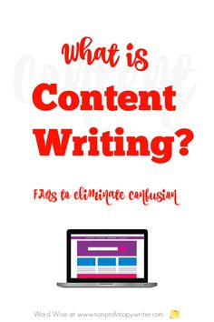 What is content writing? A simple explanation to clear up the confusion with Word Wise at Nonprofit Copywriter Writing Websites, Blog Writing Tips, Blog Websites, Writing Jobs, Article Writing, Fiction Writing, Writing Resources, Writing Prompts, Writing Ideas