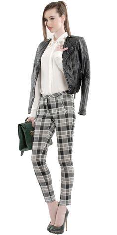 Scott Checkered Trousers | Vasari Embellished Shirt