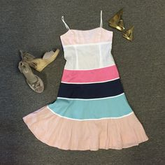 """Summer linen Dress By BCBG Max AZRIA . EUC! Made of cotton & linen. Adjustable straps. Smocked back. Lined. Bust 36"""" and some stretch Waist 31"""" Length 40"""" BCBGMaxAzria Dresses Midi"""