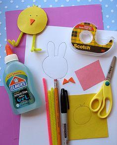 Easy DIY Easter Paper Crafts for Kids! Cute for decorating Easter Baskets. LivingLocurto.com