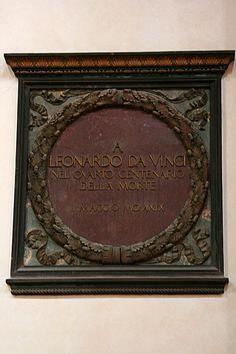 Grave marker of Leonardo da Vinci