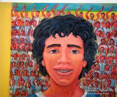"""""""El día del hincha"""". Septiembre de 2016. Pinturas en exposición en el Espacio de Arte. Villa Elisa. Buenos Aires.    #diegomanuel #paintingonsale #bocajuniors #pop #popart #popsurrealism #artgallery #artwork #messi# #neopop #neorrealism #artpop #artstar #pintura #soccer #copaamerica #futbol #Messigenio #soccer #football #argentina #futbolargentino #river #riverplate #eldiez10 #bombonera"""