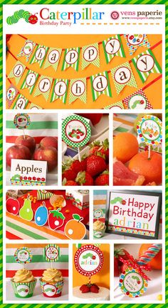 hungry caterpillar party , DIY printables (www.venspaperie.com)