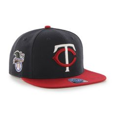 Minnesota Twins 47 Brand Navy Red Sure Shot Adjustable Snapback Hat Cap b9d16a771eb4