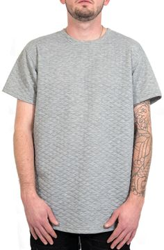 Elongated Zipper-Back Quilted Tee in Gray – Fashion X Freedom