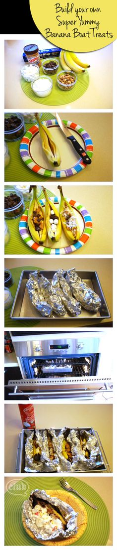 Maybe for the pre-teens to make in crafts and eat in snack time?   Campfire Banana Boats - The Perfect (Indoor) Party Treat | Tween Crafts - Connecting Mom and Daughter through crafting