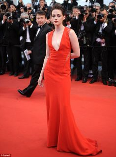Red hot: The Twilight star in Cannes in May 2012