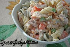 Evacuation tuna salad is a super easy, quick recipe that can be thrown together for dirt cheap eats for hoards of people during difficult times- like if you have to evacuate due to incoming storms (Hurricanes, Torrential downpours, flooding, etc).