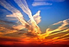 Colorful contrails...or chemtrails?
