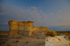 Monument Rocks. These massive chalk formations are located in Gove County and are on the National Natural Landmark registry.