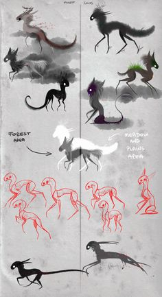 Best ideas for concept art sketches character design references awesome – Art Drawing Tips Creature Drawings, Animal Drawings, Cool Drawings, Drawing Faces, Disney Drawings, Creature Concept Art, Creature Design, Mythological Creatures, Fantasy Creatures