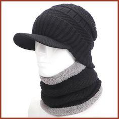 warmer winter hat knit cap scarf cap Winter Hats For men knitted hat men Beanie Knit Hat Skullies Beanies Men Beanies Cap MY Warm Winter Hats, Winter Hats For Men, Hats For Women, Knit Hat For Men, Hat Men, Men's Beanies, Beanie Hats, Knitted Hats, Mens Fashion