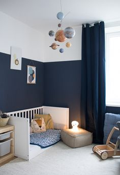 Our new children's room & a hint of Montessori - Baby und Kinderzimmer Inspiration Baby Room Decor, Nursery Decor, Room Baby, Baby Boy Rooms, Nursery Design, Baby Boy Nurseries, Wall Decor, Ideas Habitaciones, Kids Bedroom