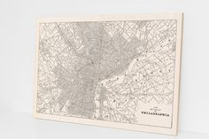 Philadelphia Wood Print Historic Map Home by DesignOutfitters