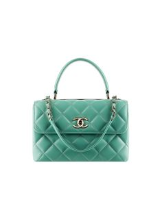 Lambskin flap bag with a metal... - CHANEL