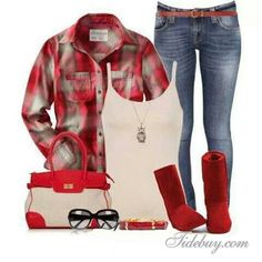 Super cute just don't know if I could pull off the red boots.