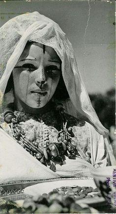 Black and white portraits of Imazighen (Berber) women
