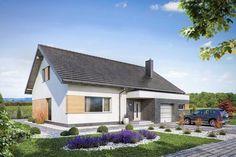 Projekt domu Domena 114 A (TBY-435) - 116.3m² Pergola, Places, Outdoor Decor, House, Home Decor, Build House, Decoration Home, Home, Room Decor