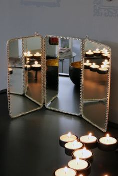 Vintage Style Three Way Mirror