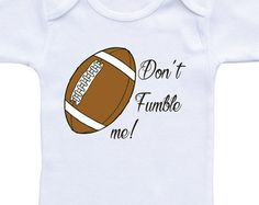 Football Onesie Football Onesie Baby Shower by MommaBeckysCrafts Baby Football Outfit, Baby Boy Football, Football Onesie, Boy Onesie, Baby Boy Gifts, Baby Shower Gifts, Baby Shirts, Cricut
