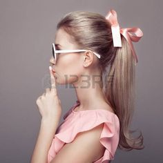 Beautiful Blonde Woman Fashion Portrait Stock Photo (Edit Now) 245440405 Girly Hairstyles, Ponytail Hairstyles, Pretty Hairstyles, Hairstyle Ideas, Beach Hairstyles, Hair Dos, My Hair, Hair Inspo, Hair Inspiration