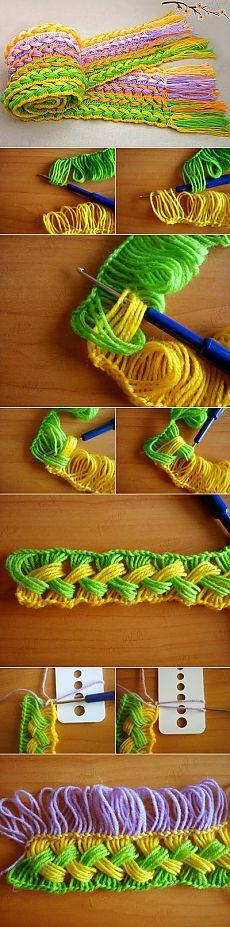 Шарфик на линейке крючком | My Hobby Book: Вязание и вышивкаMy Hobby Book: Вязание и вышивка