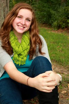 Peridot Lace Sequined Cowl