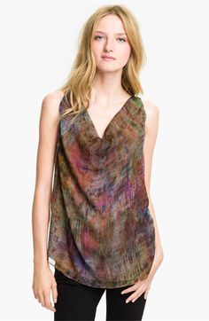 Haute Hippie Mama Told Me Abstract Print Silk Tank available at #Nordstrom