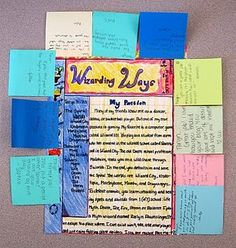"#1: Blogging Using Paper (Not my idea, nor my pictures below):  This awesome idea can really excite the students for an introductory activity this year. I am thoroughly impressed with this resource from a truly sensational weblog (""Notes from McTeach""). I believe the teacher assigned the students to write about their passions and format the piece of paper to look like a weblog:"