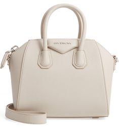 Givenchy 'Mini Antigona' Sugar Leather Satchel in Natural Luxury Purses, Luxury Bags, Luxury Handbags, Purses And Handbags, Cheap Handbags, Designer Handbags, Popular Handbags, Handbags Online, Red Purses