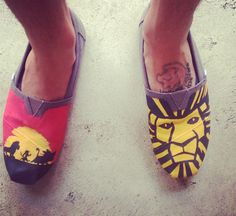 Another pair in the shop!! Go check out my Disney Lion King themed toms at etsy.com/shop/Artscribbles