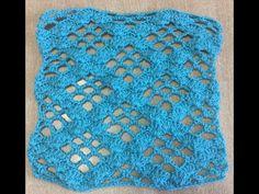 Crochet broomstick lace chevron variation by Oana - YouTube