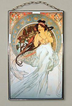 "Alphonse Mucha- The Arts.Music. Size: 210 x 130 mm (8.2"" x 5.1"" inches)"