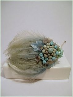 A  vintage millinery feather  headpiece~ from the blog French Blue
