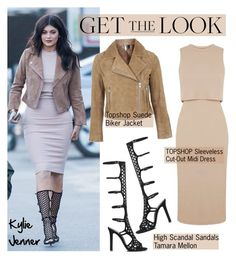"""Get the Look: Kylie Jenner"" by helenevlacho ❤ liked on Polyvore featuring Topshop and Tamara Mellon"