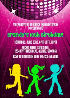 29 best zumba dance party kids images on pinterest birthdays dance party invitation hip hop dance party by invitationblvd stopboris Image collections