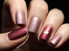 Amateur Manicure : A Nail Art Blog: Adventures in Stamping Post #2: Things Are Looking Rosy