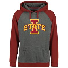 Iowa State Cyclones Ash/Crimson Classic Primary Pullover Hoodie