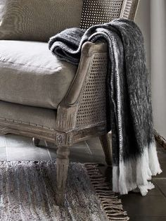 Is there anything better in the winter than a warm blanket with the softest texture? Our monochrome mohair throw is a wonderful way to keep cosy. Furniture Inspiration, Color Inspiration, Mohair Throw, New Nordic, Warm Blankets, Sofa Throw, Slow Living, Charcoal Color, Home Textile