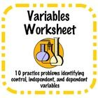This worksheet includes 10 practice problems where students need to identify the control, independent variable, and dependent variable in each expe. Physical Science, Science Fair, Teaching Science, Life Science, Science Ideas, Science Lessons, 5th Grade Classroom, Classroom Ideas, 6th Grade Science