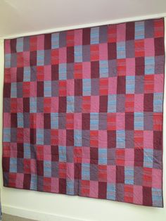 TumbleTalk: Quilt using Kaffe's shot cottons and woven stripes, by Kim Greenfeld