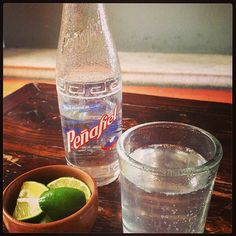 Mineral water with lime. Mineral Water, Minerals, Lime, Water Bottle, Instagram, Oaxaca, Limes, Water Bottles, Key Lime
