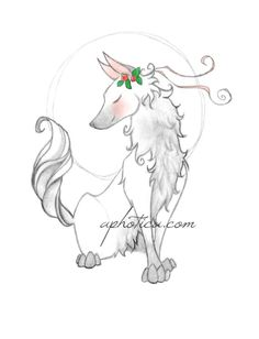 white wolf original art print 8x10 by aphotica on Etsy, $11.00