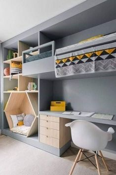 Bedroom İdeas For Each Child - 30 Fabulous Room Ideas For Children Who Love Colors New 2019 kids room; kids room ideas for boys; room ideas for boys Kids Room Design, Nursery Design, Home Design, Design Ideas, Design For Bedroom, Boy Bedroom Designs, Cool Room Designs, Playroom Design, Design 24
