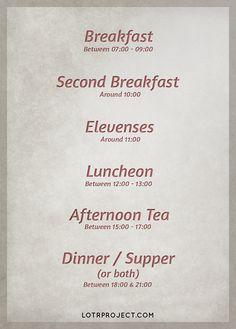 Eat well. Eat like a Hobbit.