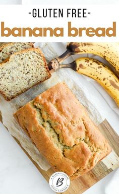 Make this easy Gluten Free Banana Bread in less than an hour start to finish. Ripe bananas give a sweetness to this quick bread. You won't even know the gluten is missing! #glutenfree #banana #bananabread #abakershouse #quickbread Best Gluten Free Bread, Gluten Free Recipes For Kids, Gluten Free Banana Bread, Easy Banana Bread, Gluten Free Sweets, Gluten Free Baking, Gf Recipes, Ripe Banana Recipe, Banana Recipes