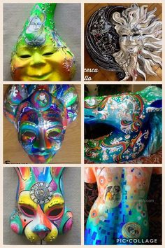 Masks painted by me
