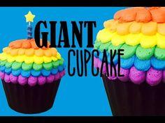 Giant Chocolate Cupcake Masterclass! With Rainbow Frosting | My Cupcake Addiction - YouTube