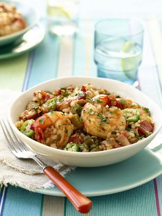 Shrimp Jambalaya #recipe from the American Heart Association Healthy Slow Cooker Cookbook