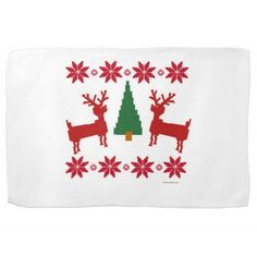 Christmas Sweater Style Kitchen Towels